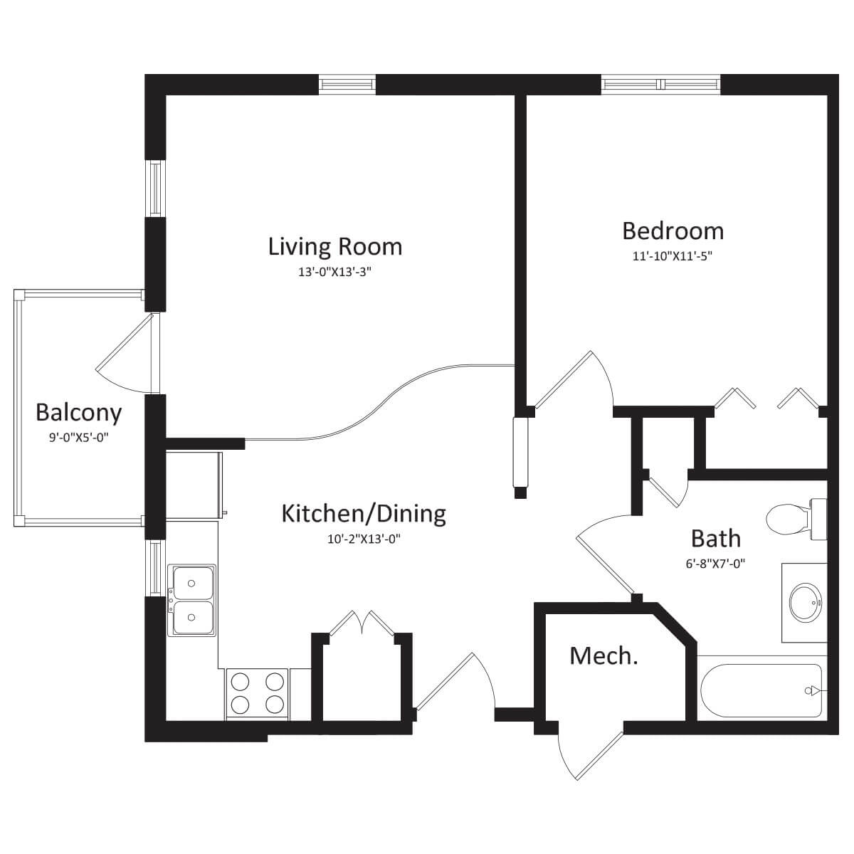 Floor Plans - The Village East Apartments